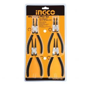 INGCO 4 Pcs Circlip Plier Set