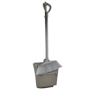 Larger Broom & Bucket Type Dust Pan Set With Wheels