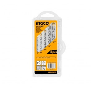 INGCO 5 Pcs Masonry Drill Bits Set