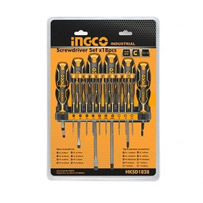 INGCO 18 Pcs Screwdriver & Precision Screwdriver Set HKSD1828 (INDUSTRIAL)